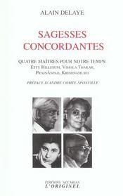 Sagesses concordantes - Intérieur - Format classique