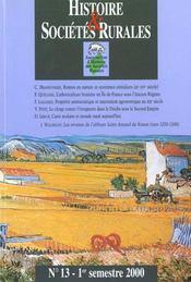 Revue Histoire Et Societes Rurales N.13 - Intérieur - Format classique