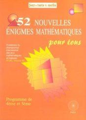 52 nouvelles enigmes pour tous 4/3 - Intérieur - Format classique
