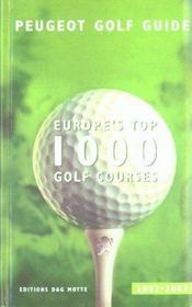 Guide peugeot golf ; edition 2002-2003 - Intérieur - Format classique