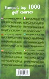 Guide peugeot golf ; edition 2002-2003 - 4ème de couverture - Format classique