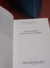 Studi in memoria di Giovanni Cassandro. - Couverture - Format classique