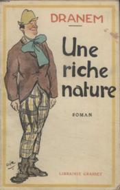 Une Riche Nature. - Couverture - Format classique