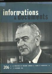 Informations Et Documents N° 206. - Couverture - Format classique