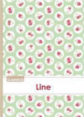 Le Carnet De Line - Lignes, 96p, A5 - Roses Tea Time - Couverture - Format classique