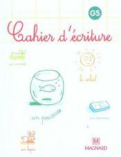 Cahier d'écriture ; GS (édition 2005) - Intérieur - Format classique