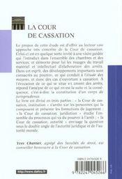 La cour de cassation - 2e ed. - 4ème de couverture - Format classique