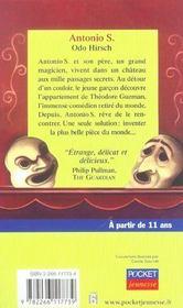 Antonio S. Et Le Mystere De Theodore Guzman - 4ème de couverture - Format classique