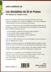 Les disciplines du qi en france ; aux sources de l'énergie vitale - 4ème de couverture - Format classique