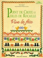Point De Croix Et Perles De Rocaille - Couverture - Format classique