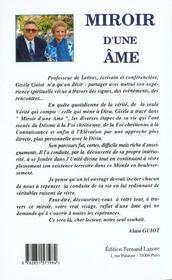 Miroir De L'Ame - 4ème de couverture - Format classique