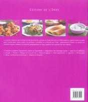 Cuisine de l'inde ; des recettes rapides, simples et delicieuses a preparer soi-meme - 4ème de couverture - Format classique