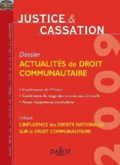 Justice et cassation 2009 - Couverture - Format classique