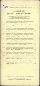 RECUEIL DES CONVENTIONS DE LA HAYE, Adoptées par les 7e, 8e, 9e, 10e et 11e Sessions (1951, 1956, 1960, 1964 et 1968), ainsi que par la Session extraordinaire (1966) - Couverture - Format classique