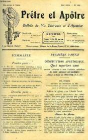 Pretre Et Apotre, Bulletin De Vie Interieure Et D'Apostolat, N° 183 A 343 (Incomplet) - Couverture - Format classique