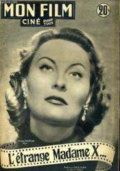 Mon Film N° 272 - L'Etrange Madame X ... - Couverture - Format classique