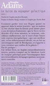 Le Guide Du Voyageur Galactique - 4ème de couverture - Format classique