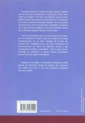 L'empire de l'erreur ; éléments de sociologie cognitive - 4ème de couverture - Format classique