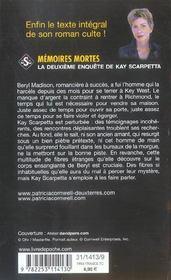 Mémoires mortes - 4ème de couverture - Format classique