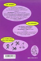 Vocabulario Espagnol Apprendre Et Reviser Son Vocabulaire En Jouant Niveau 1 - 4ème de couverture - Format classique