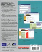Dreamweaver ultradev 4 ; training from the source - 4ème de couverture - Format classique
