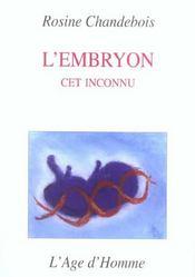 L'Embryon, Cet Inconnu - Intérieur - Format classique