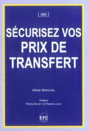 Securisez vos prix de transfert - Couverture - Format classique
