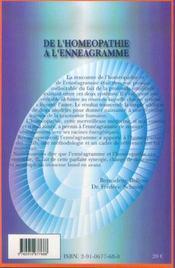 De l'homéopathie à l'enneagramme - 4ème de couverture - Format classique