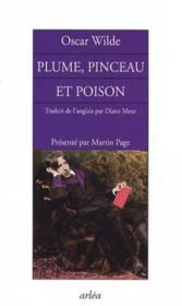 Plume, pinceau et poison ... - Couverture - Format classique
