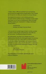 Yves Bien-Aimé ; l'écuyer-jardinier - 4ème de couverture - Format classique