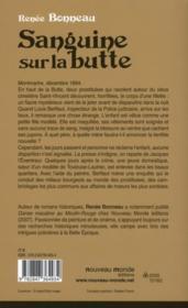Sanguine sur la butte - 4ème de couverture - Format classique