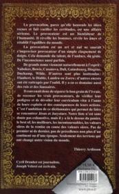 Dictionnaire des provocateurs - 4ème de couverture - Format classique