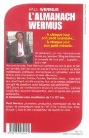 L'almanach Wermus : L'almanach de toutes les détentes - 4ème de couverture - Format classique