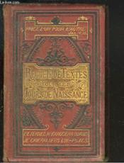 Recueil De Textes Pour Les Jours De Naissance - Couverture - Format classique