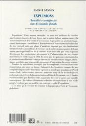 Expulsions ; brutalité et complexité dans l'économie globale - 4ème de couverture - Format classique