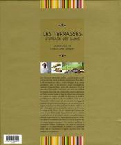 Les terrasses d'Uriage-les-Bains ; la brigade de Christophe Aribert - 4ème de couverture - Format classique