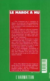 Maroc A Nu - 4ème de couverture - Format classique