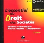 Essentiel droit des societes t.1. les societes commerciales (l') - Couverture - Format classique