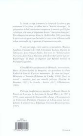 La laïcité, ciment de notre république, valeur universelle - 4ème de couverture - Format classique