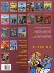 Léo Loden T.11 ; rabasso sus radassié - 4ème de couverture - Format classique