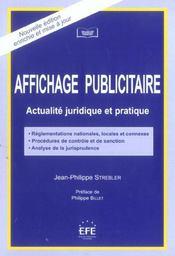 Affichage publicitaire actualite juridique et pratique - Intérieur - Format classique