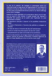Affichage publicitaire actualite juridique et pratique - 4ème de couverture - Format classique