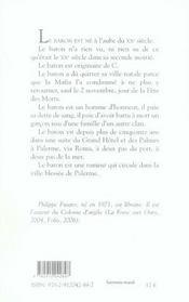 Palermo solo - 4ème de couverture - Format classique