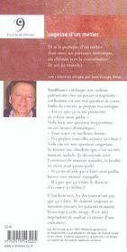 Sagesse Du Medecin - 4ème de couverture - Format classique