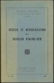 ACCUEIL ET RÉINSTALLATION DES FRANÇAIS D'OUTRE-MER. Journal officiel n°1215 - Couverture - Format classique