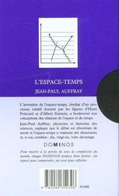 L'Espace Temps - 4ème de couverture - Format classique