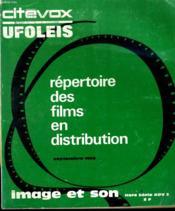 Revue De Cinema - Image Et Son - Hors Serie Adv 3 - Repertoire Des Films En Distribution - Couverture - Format classique
