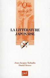 La littérature japonaise - Intérieur - Format classique