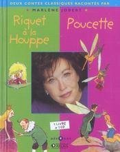 Deux contes classiques racontés par Marlène Jobert ; Riquet à la houppe ; Poucette - Intérieur - Format classique