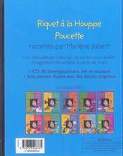 Deux contes classiques racontés par Marlène Jobert ; Riquet à la houppe ; Poucette - 4ème de couverture - Format classique